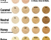 30g Mineral Foundation - Sheer Coverage - 18 Colours To Choose From