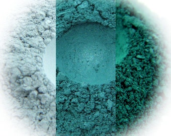 Atlantis Eyeshadow Trio - Ice, Kingfisher, Forest