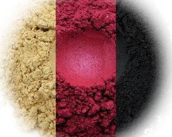 Opulence Eyeshadow Trio - Champagne, Red Velvet, Black Shimmer
