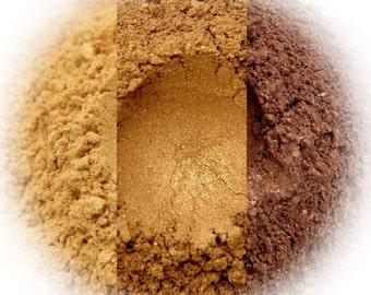 Sunkissed Eyeshadow Trio - Gold, Bronzed, Chocolate Satin