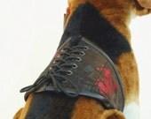 Dog Corset in Silk Brocade