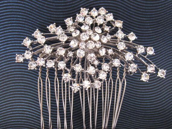 Rhinestone Hair Comb  -- Bridal,Tiara,headband ,hair piece ,crystal