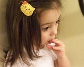SALE ...Ready to ship!!   .Animal felt hair clips for little girls with non slip velvet aligator clip for baby's fine hair