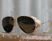 vintage 1970's french aviator sunglasses