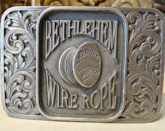vintage buckle, for the bethlehem wire company