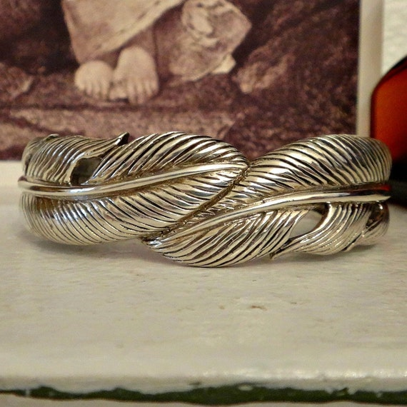 silver feather cuff