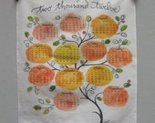 2012 tea towel calendar printed with hand-painted & lettered art
