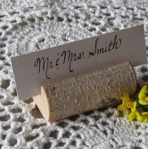 Reserved - 20 Rustic Wedding Place Card Holders
