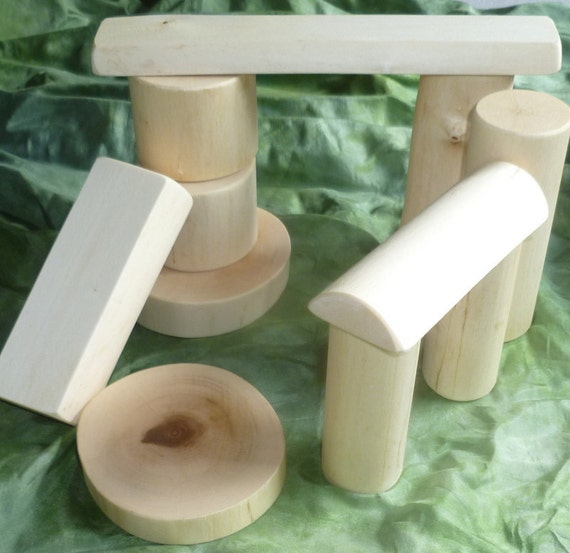Maple Branch Baby Toddler Bark Free Building Play Set Natural Waldorf Toy