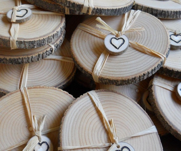 Rustic wedding favors ash coasters 50 by mainebranchcompany