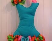Tutu Hair Bow Holder - Aqua, Pink, Lime, Orange - With 4 FREE Bows