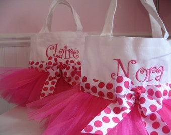 Mini Tutu Tote Bag - Pink and White Dance Bag