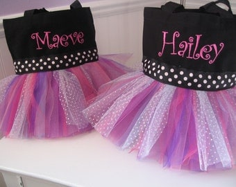 Tutu Tote Bag - Mini Pinks and Purples Dance Bag