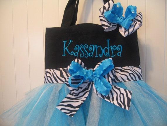 Mini Tutu Tote bag - Dance bag with matching hairbow