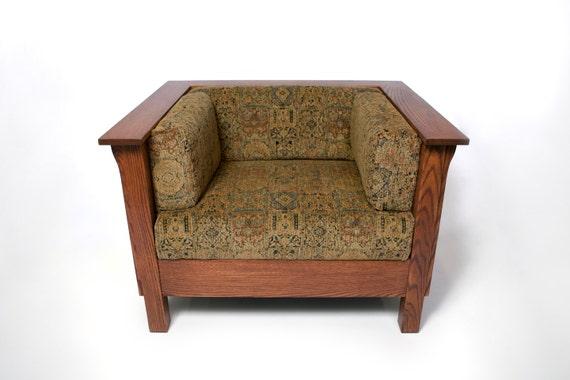 Mission Arts & Crafts Prairie Stickley style Club Cube Chair
