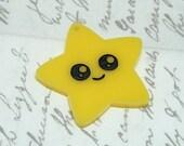 Laser cut acrylic kawaii star pendant x 2
