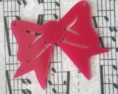 3 x laser cut acrylic bow pendants - any colour