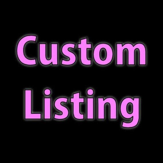 Custom listing for Alessia Gangai