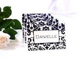 PRINTABLE Bold Damask Black on White Place Cards