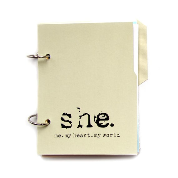 Journal or Diary for Writing Your Story - She: Me, My Heart, My World in Tea Green