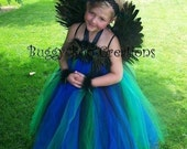 PRINCESS PEACOCK Tutu Dress Set............Sizes Availble 24 Months, 2T, 3T, 4T, 5T..............Perfect for HALLOWEEN, Pageants, WEDDINGS, Birthdays, Photo Shoots, Events, Etc......