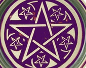 Custom Order for Sam...Purple Pentacle/ Pentagram