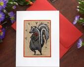 Love Skunk, individual valentine card