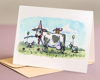 Party Cows, birthday card