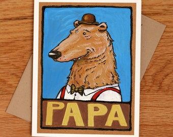 Papa Bear, father's day card