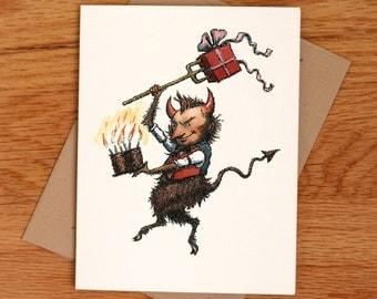 Birthday Devil, individual card.