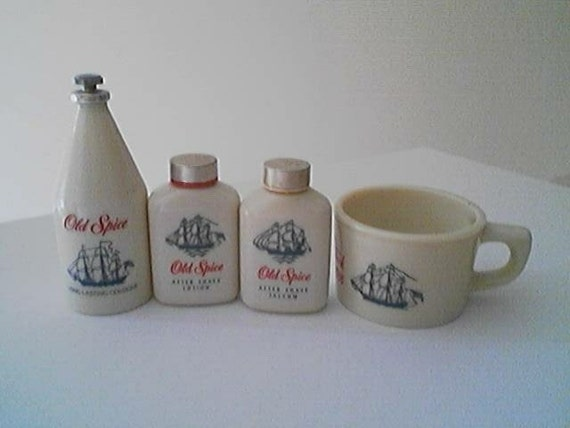 Vintage Collection Set of Mens Old Spice by Shulton