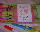 Pink Crayon Wallet with Scratch Pad