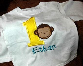 1st Birthday Shirt Mod Monkey