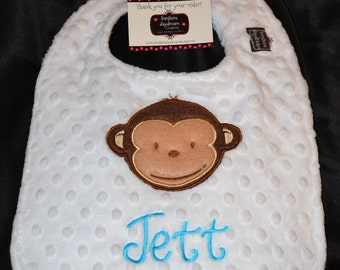 Mod Monkey Boy 1st First Birthday-Birthday Bib