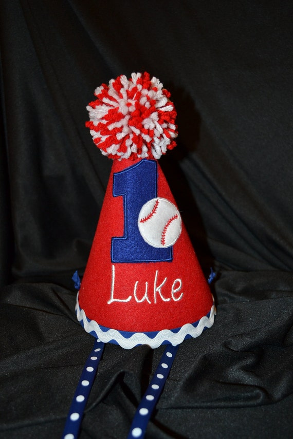 Baseball 1st Birthday Party Hat