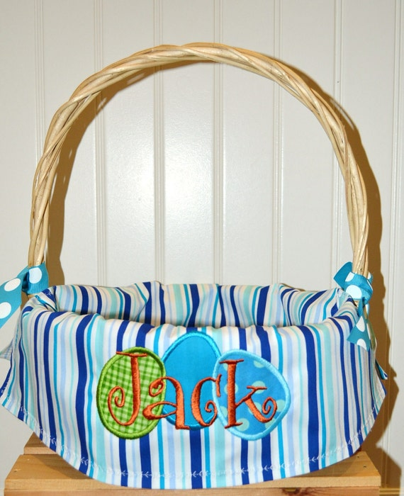 Boys or Girls Easter Basket Personalized with your Name of Choice