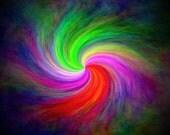 PIF (Pay It Forward) Rainbow Swirl 8x10 Glossy Print