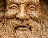 Wood spirit, wood carvings, Wedding gift, gift for Dad, rustic furniture, Burl Art, wiz, carved by Gary Burns, treewiz, handmade, woodwork