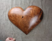 Carved Wood Heart, gift for Mom, Personalized Wedding Gift, Fathers day gift, by Gary Burns, wiz, treewiz, handmade, woodworking