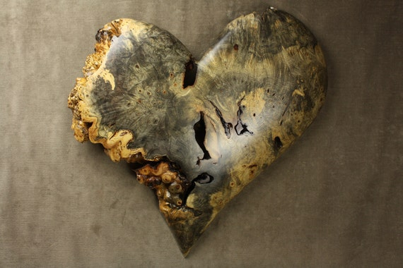 Carved Wood Heart Wall Art on etsy by Gary Burns in the treewiz shop, handmade, woodworking
