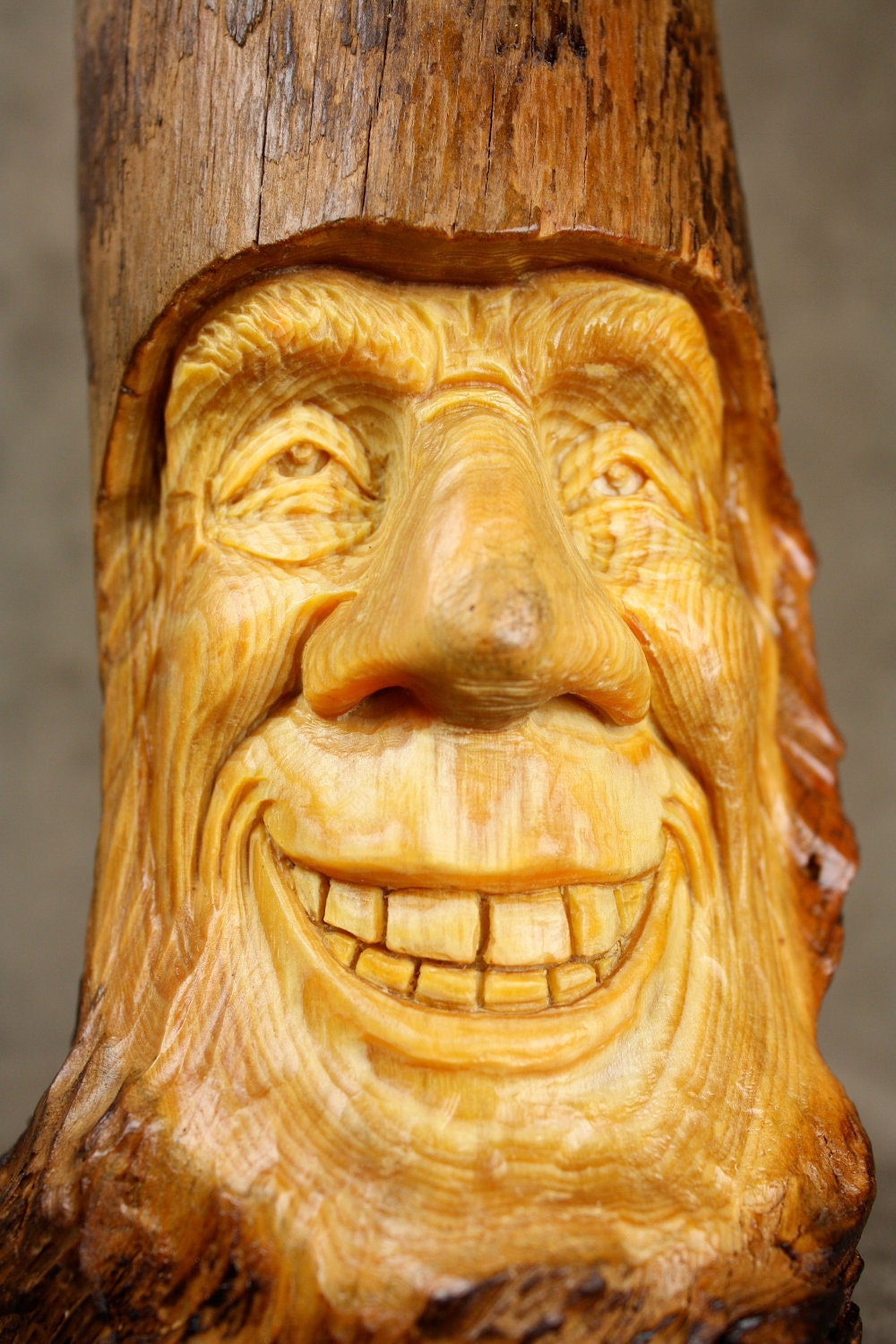 Wood Carving Wood Spirit Carved Elf Gift For Dad Gift For