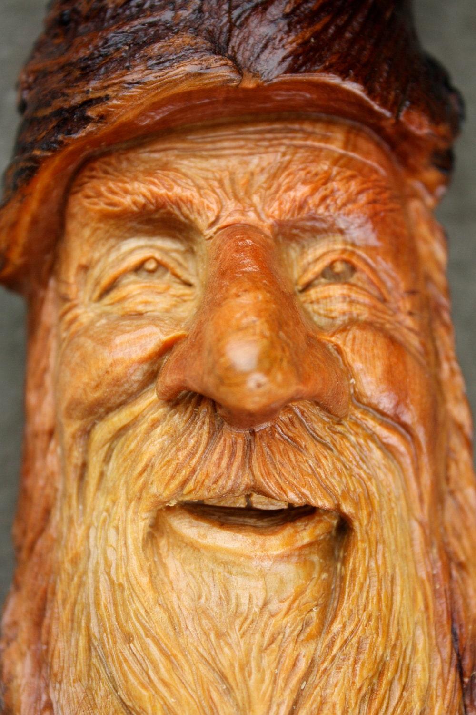 Christmas Gift Wood Carving Wood Spirit By Treewizwoodcarvings