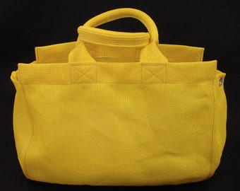 Large Yellow Mesh Nonie Tote Bag