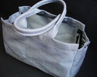 Mesh Tote Bag Large Silver