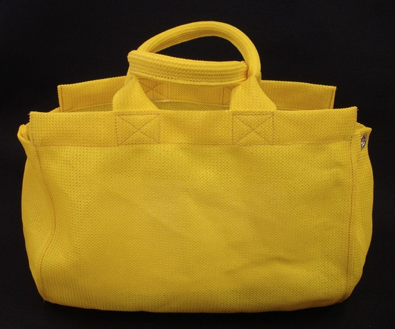 Large Yellow Mesh Nonie Tote Bag