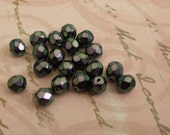 Store Wide Sale 30 Czech metallic Faceted Purple Beads  5mm Destash