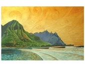 Alaula  sunset glow 8x10 inch print in a 11x14 inch white double mat