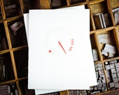 Reserve Listing for Ryan S. Tachometer love card by The Permanent Collection