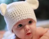 Baby Bear Crochet Hat Pattern PDF