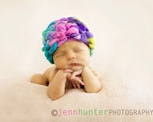 newborn hat photo prop crochet PATTERN PDF 50 can be made plain with mohawk or pompom
